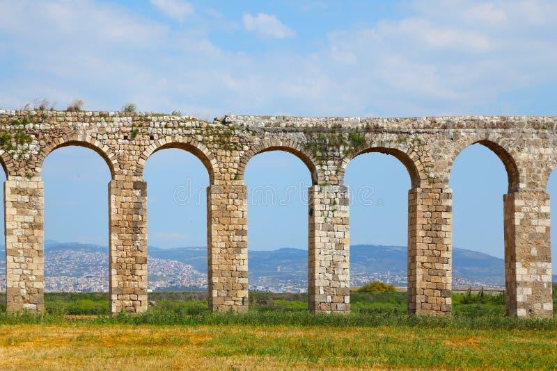 античный мост-водовод стоковая фотография
