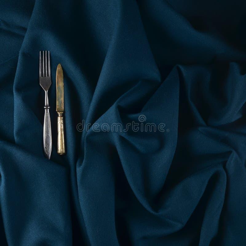 античный нож вилки стоковое фото rf