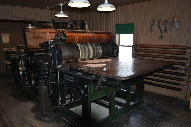 Античный печатный станок стоковое фото rf