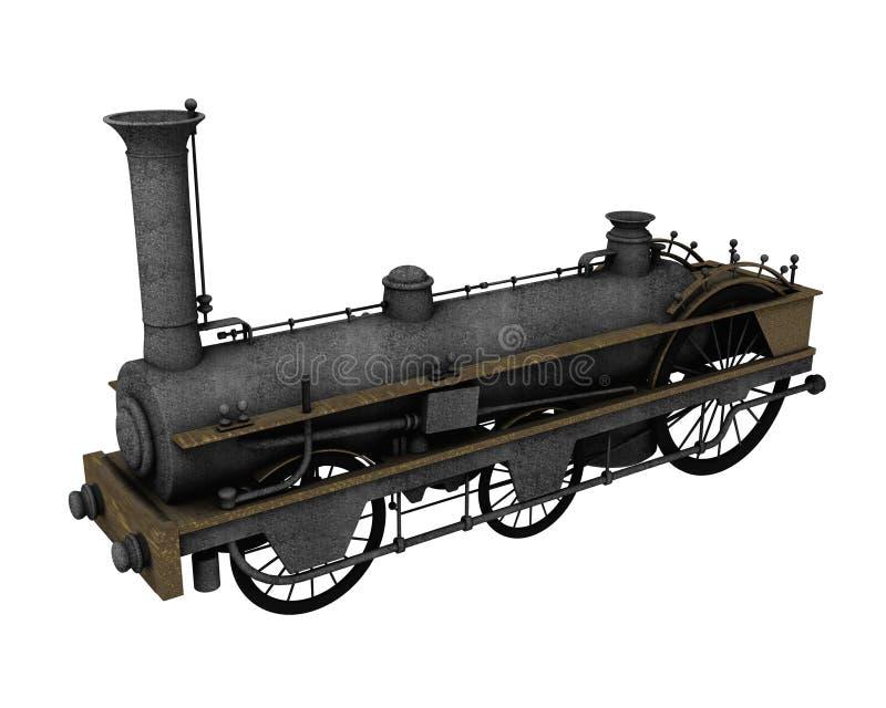 античный поезд иллюстрация вектора