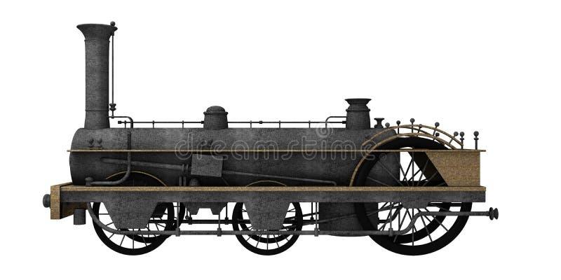 Античный поезд стейка иллюстрация вектора