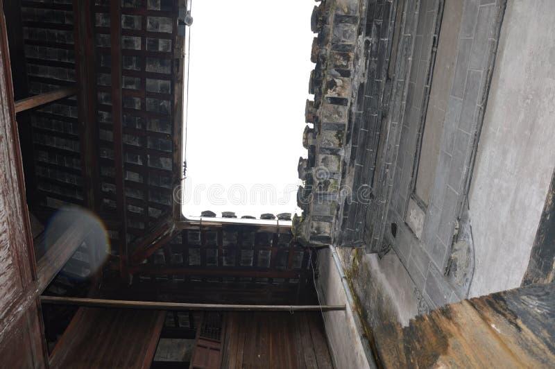 Античный потолок традиционного китайския стоковое фото