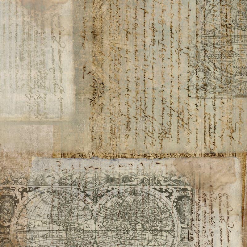 античный сбор винограда текста бумаги предпосылки стоковые фотографии rf