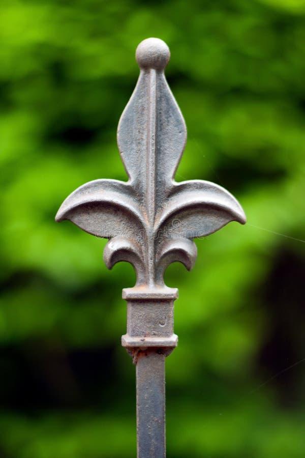античный столб утюга загородки стоковые фотографии rf