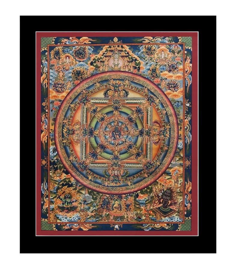 античный тибетец tangka стоковое изображение rf