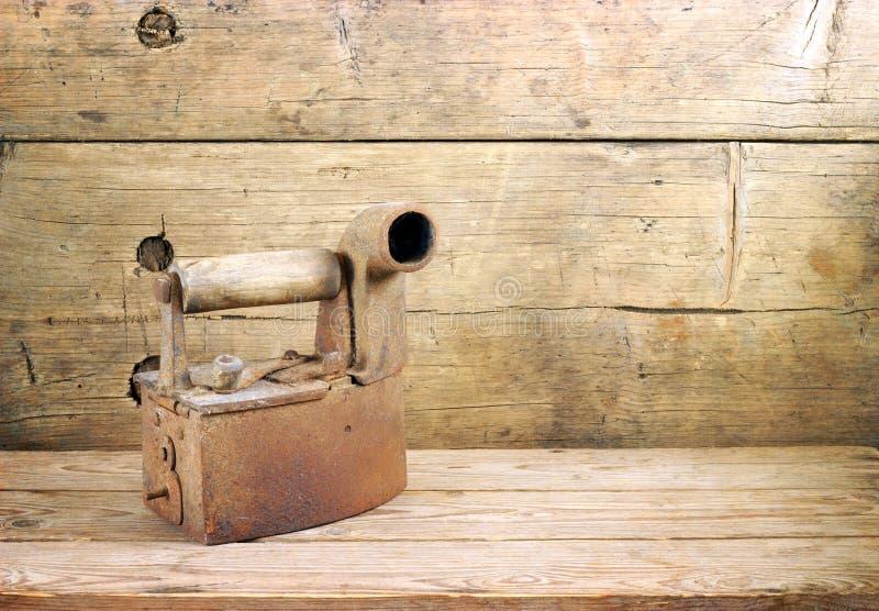 античный утюг стоковое фото rf