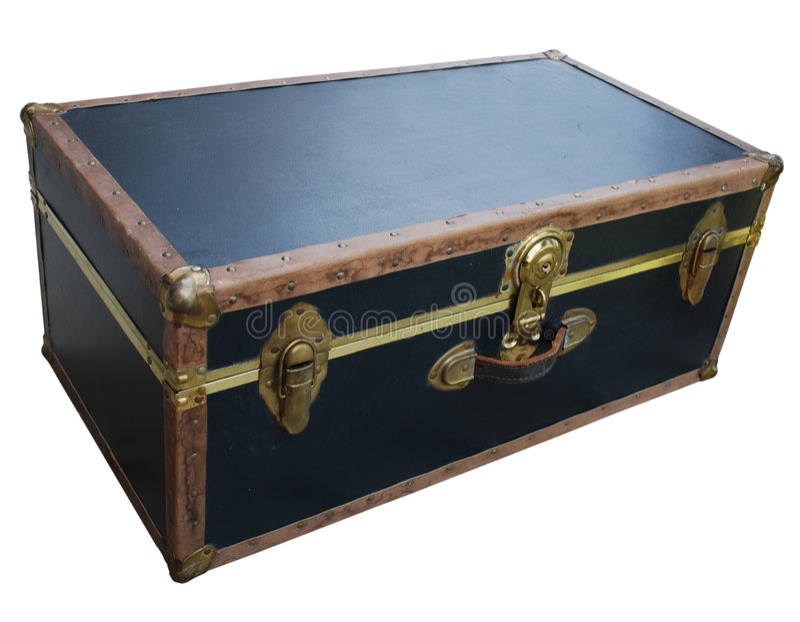 античный чемодан стоковое изображение