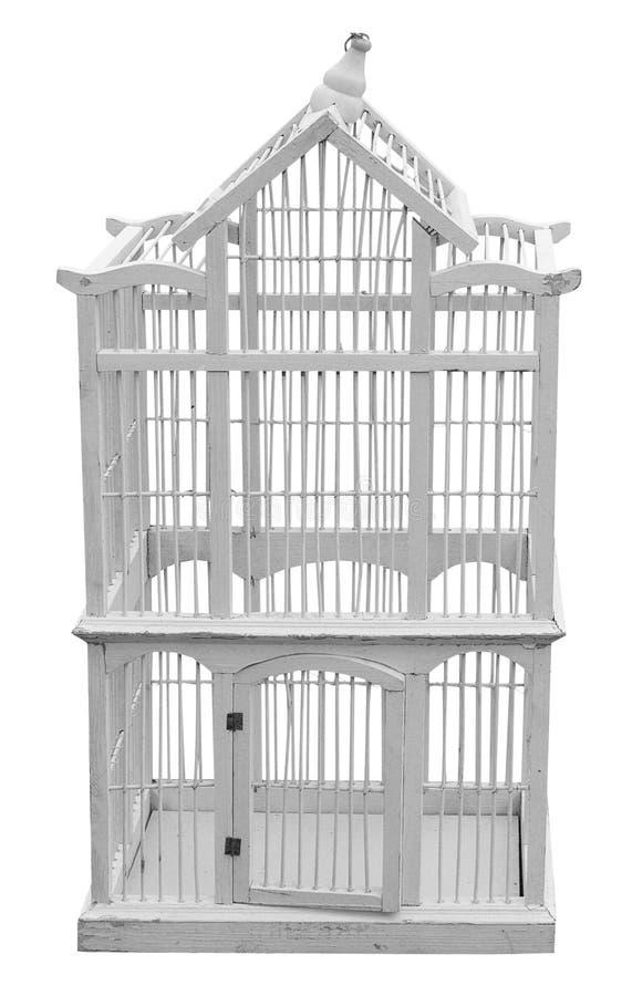 античный birdcage деревянный стоковые фотографии rf