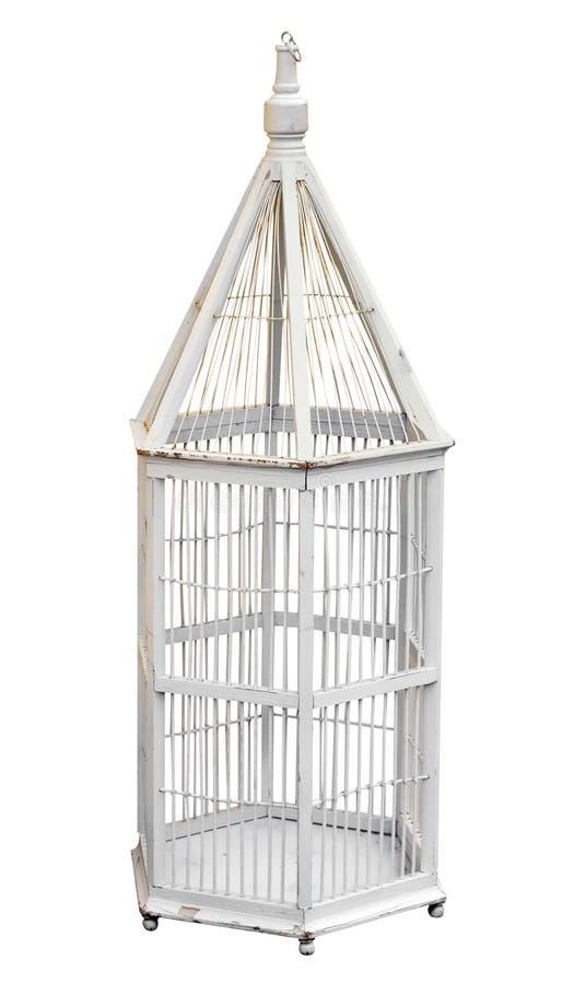античный birdcage деревянный стоковые изображения