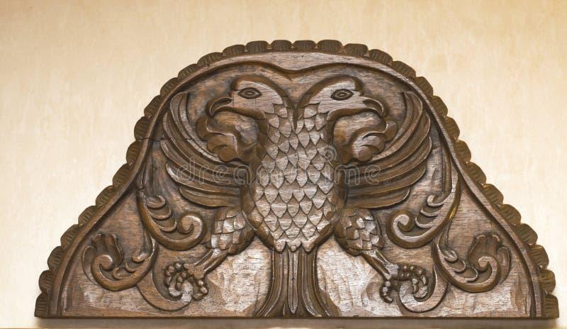 античный headboard деревянный стоковая фотография rf