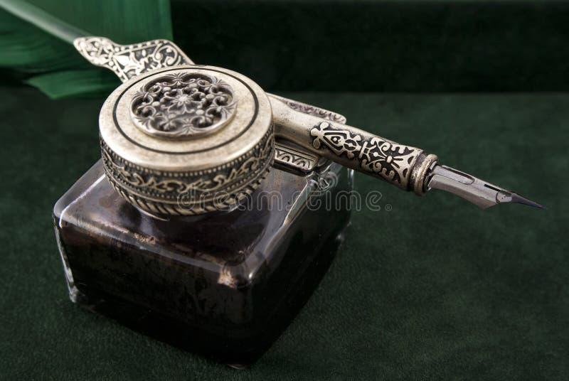 античный quill чернил стоковая фотография rf