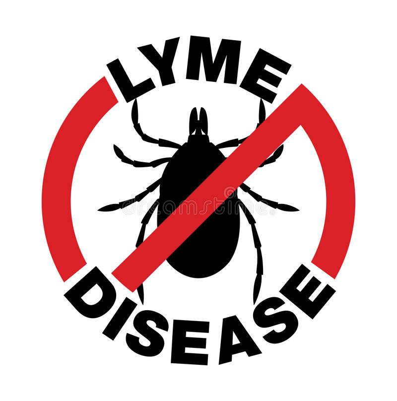 Анти- значок укуса тикания заболеванием Lyme иллюстрация штока