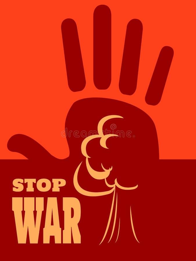 Анти- концепция войны бесплатная иллюстрация