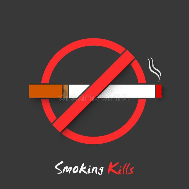 Анти- куря знак или символ на для некурящих день бесплатная иллюстрация