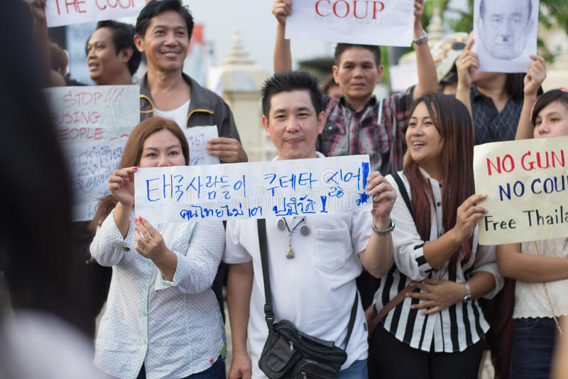 Анти- переворот в Таиланде стоковые изображения rf