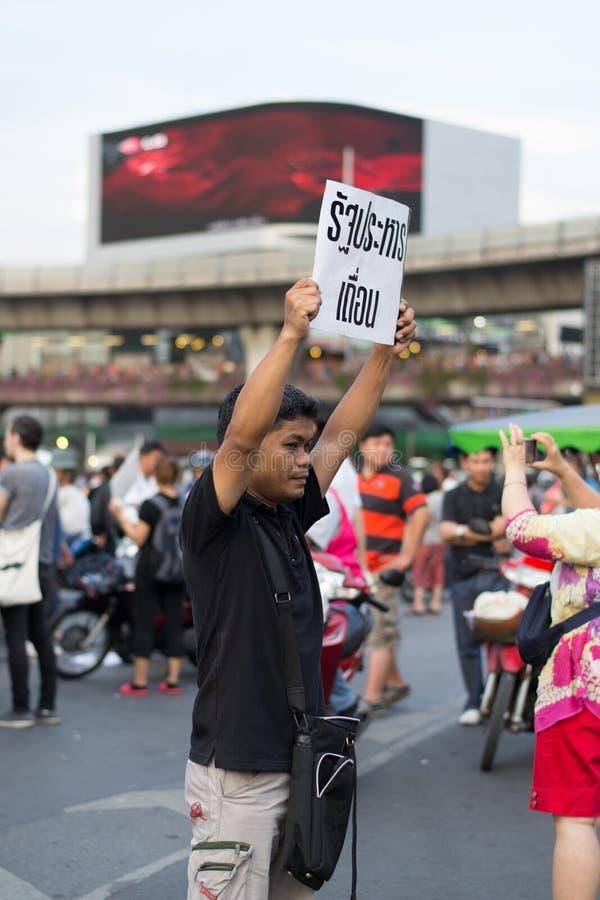 Анти- переворот в Таиланде стоковые фото
