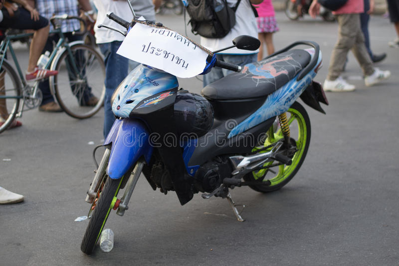 Анти- переворот в Таиланде стоковое фото rf