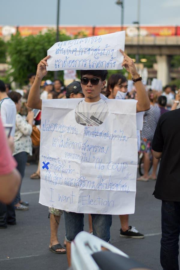 Анти- переворот в Таиланде стоковая фотография