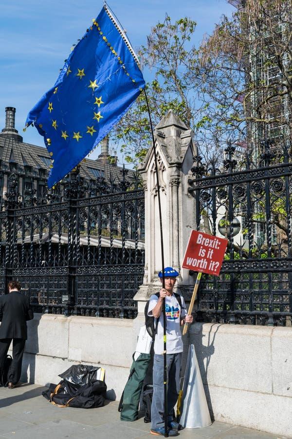 Анти- протестующий Brexit стоковые фото