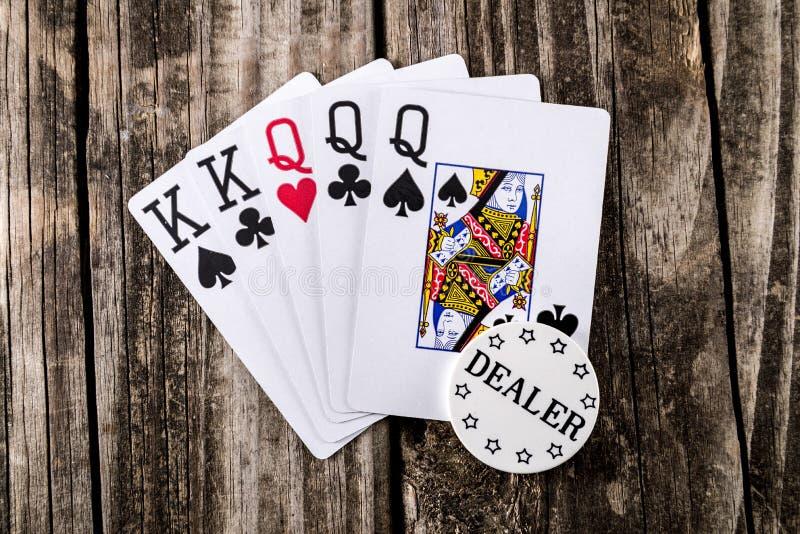Аншлаг - короля & покер ферзей стоковое фото