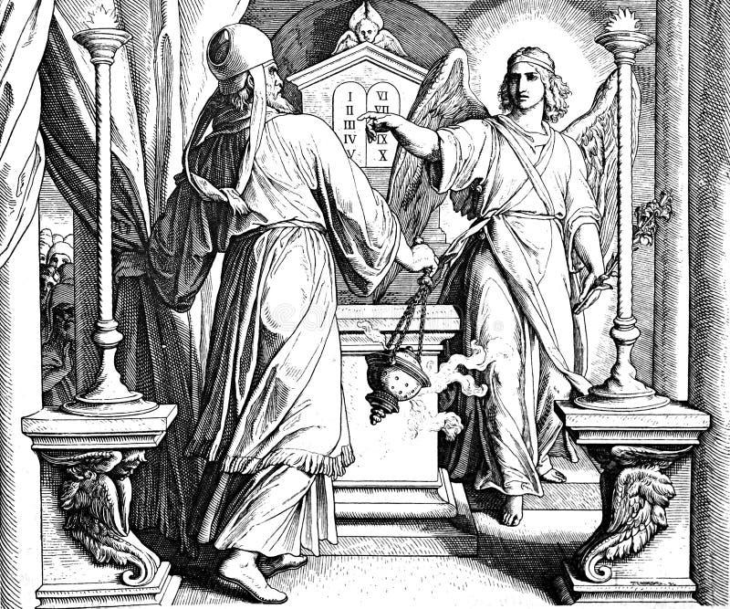 Анджел Габриэль и Zechariah стоковая фотография