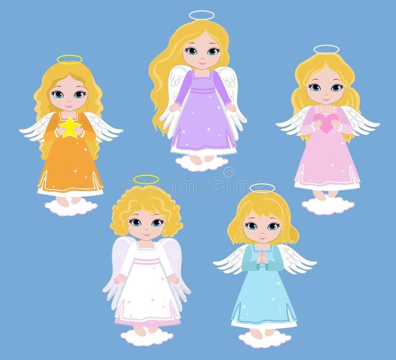 Анджел цифров Clipart Установите девушек Анджела баптиста бесплатная иллюстрация