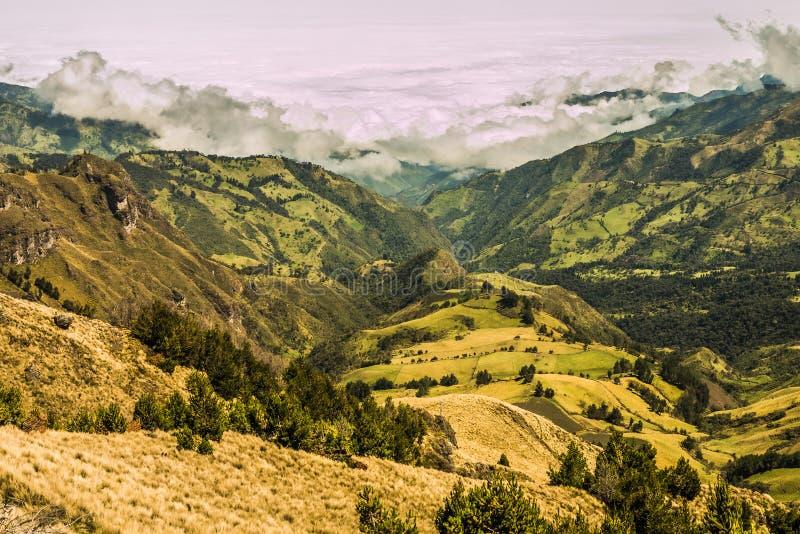 Андийский ландшафт Южная Америка стоковое изображение rf