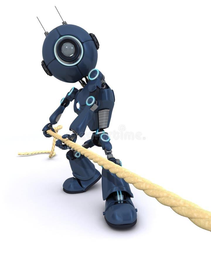 Андроид вытягивая на веревочке иллюстрация штока