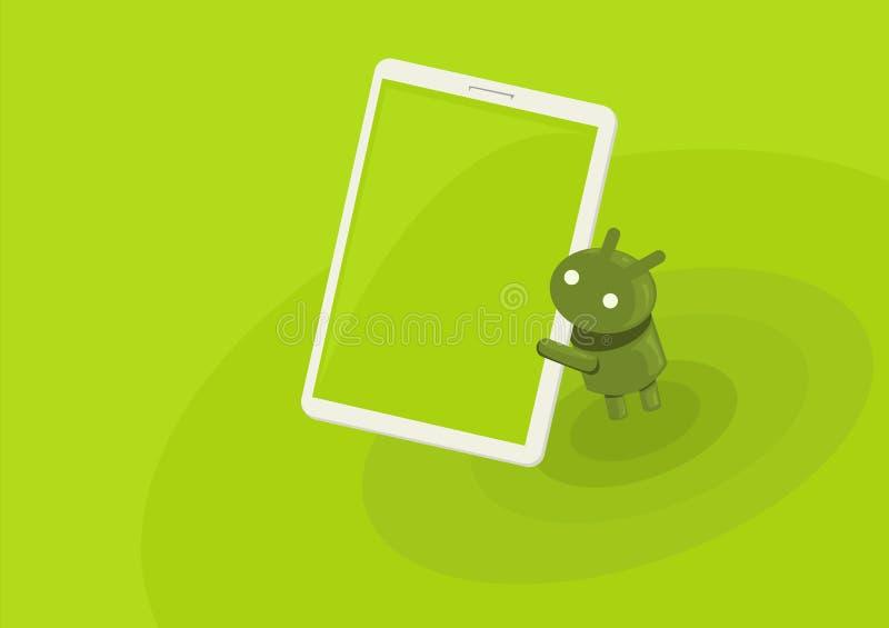 Андроид ест таблетку бесплатная иллюстрация