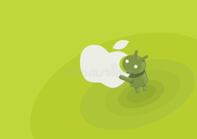 Андроид ест стоковые фотографии rf