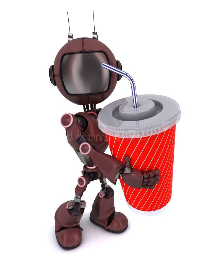 Андроид с содой бесплатная иллюстрация