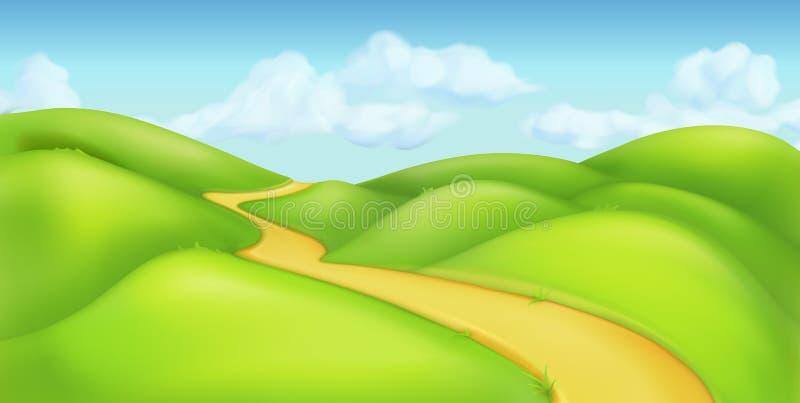 ландшафт предпосылки зеленый иллюстрация штока