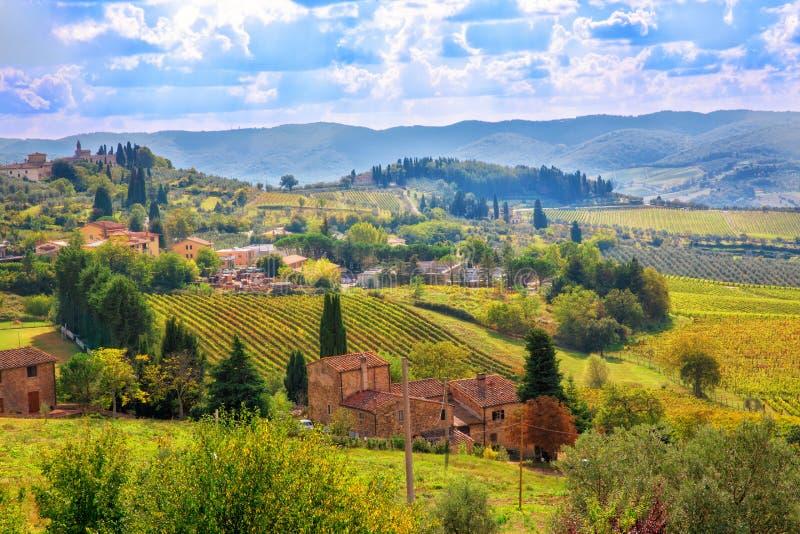 ландшафт Тоскана стоковые изображения