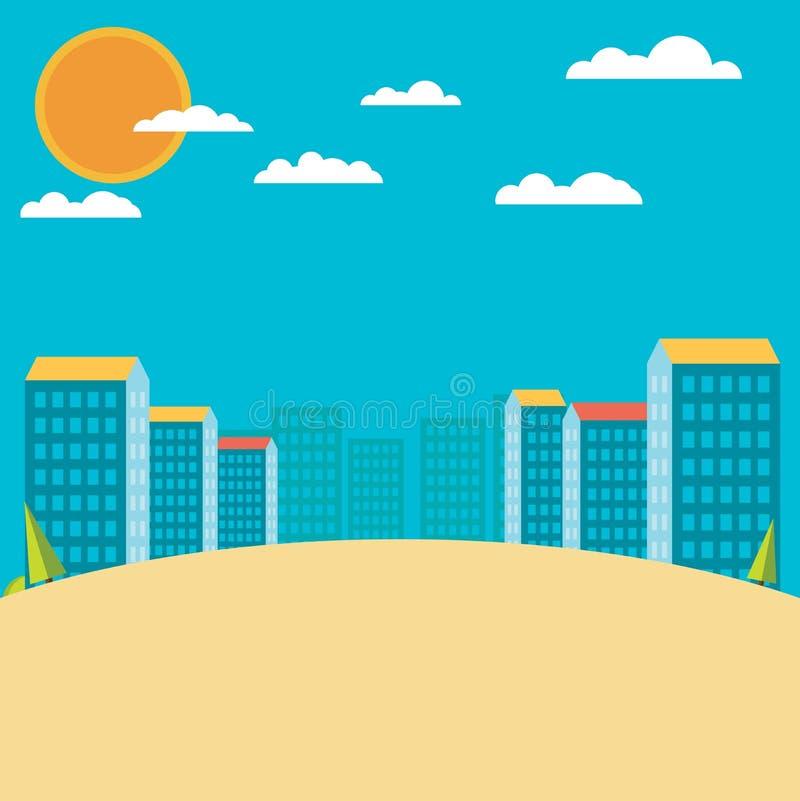 ландшафт урбанский Плоский дизайн бесплатная иллюстрация