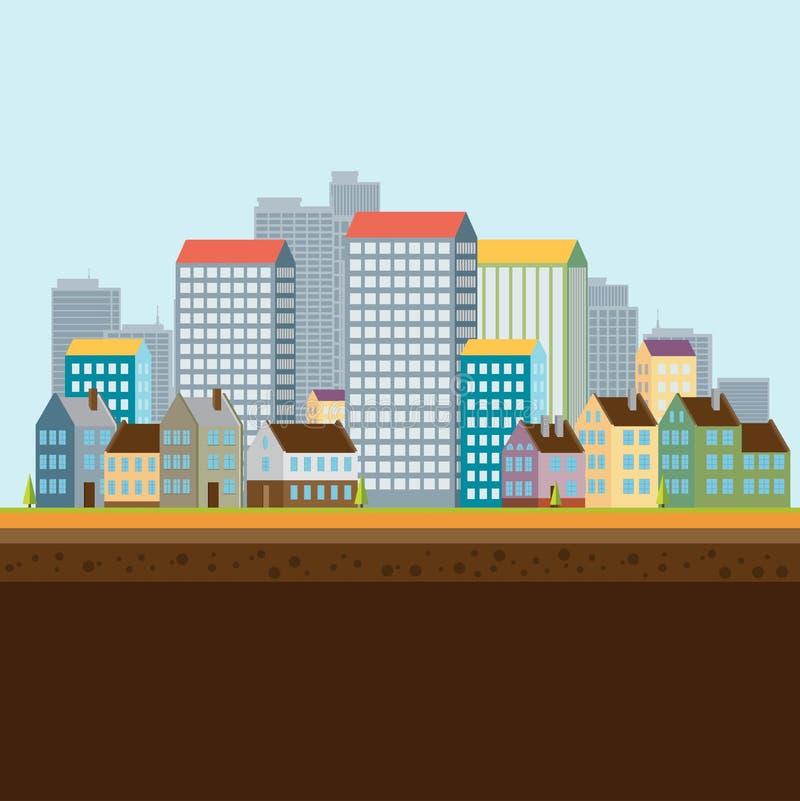 ландшафт урбанский также вектор иллюстрации притяжки corel бесплатная иллюстрация