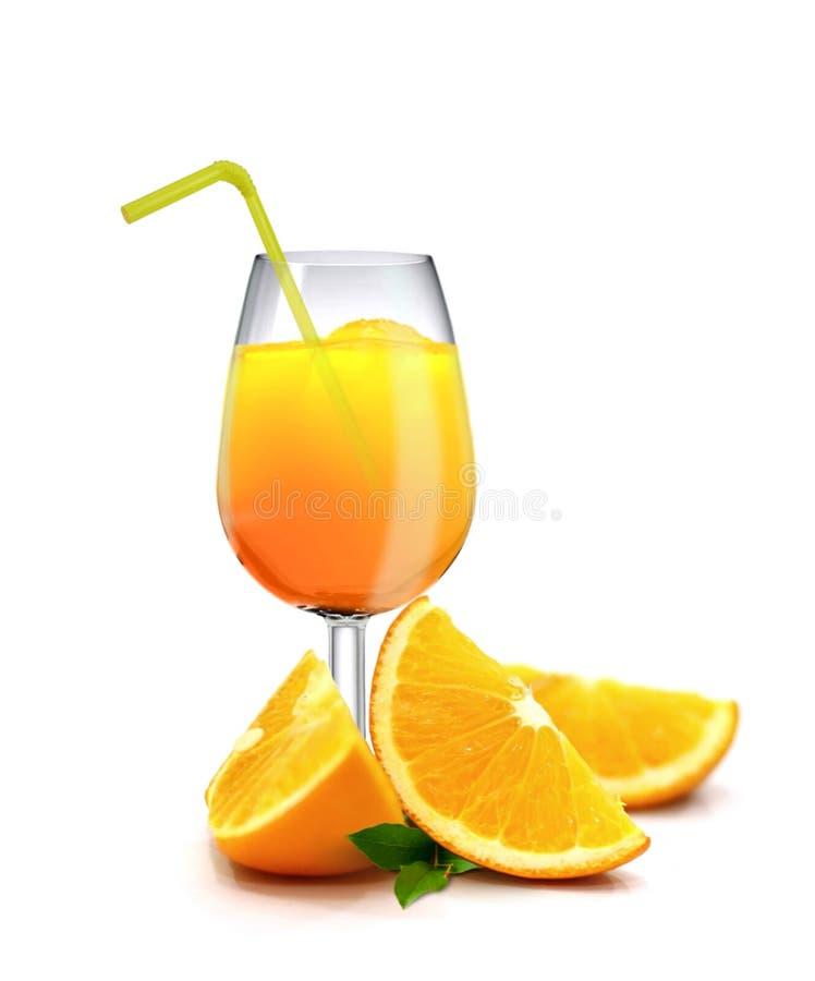 Апельсиновые соки над белой предпосылкой стоковая фотография rf
