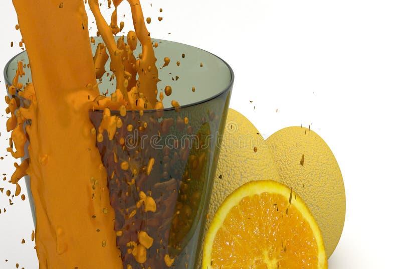 Апельсиновый сок в стекле стоковое изображение