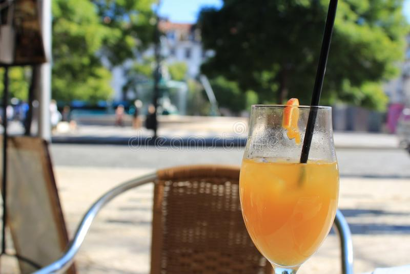 Апельсиновый сок в террасе стоковые фото