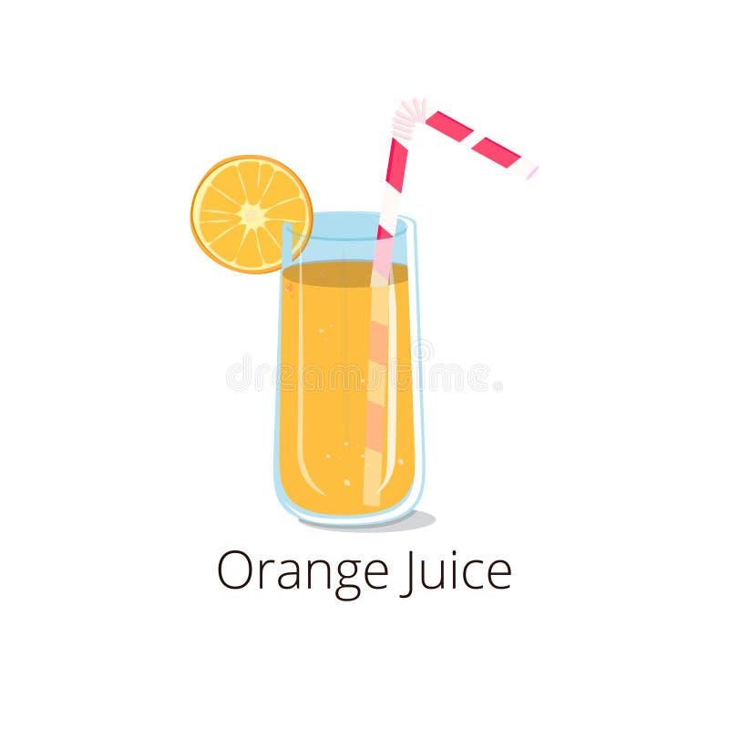 Апельсиновый сок иллюстрации в стекле стоковые изображения