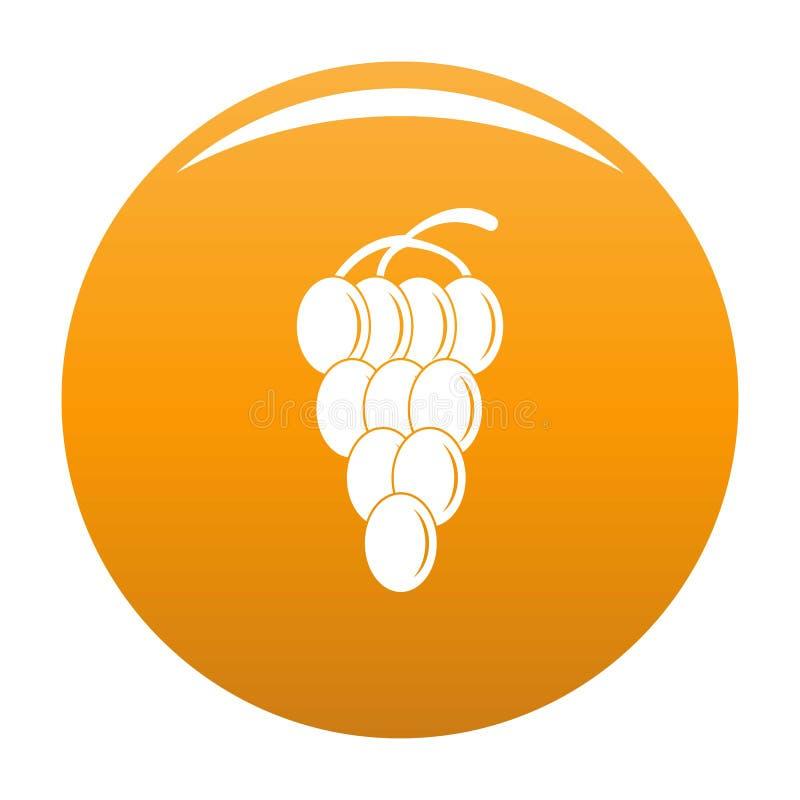 Апельсин вектора значка виноградины группы иллюстрация штока