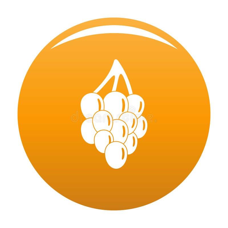 Апельсин вектора значка виноградины пука иллюстрация вектора