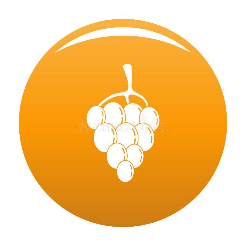 Апельсин вектора значка виноградины ягоды иллюстрация вектора