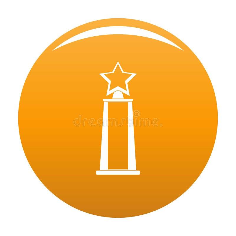 Апельсин вектора значка награды звезды иллюстрация вектора