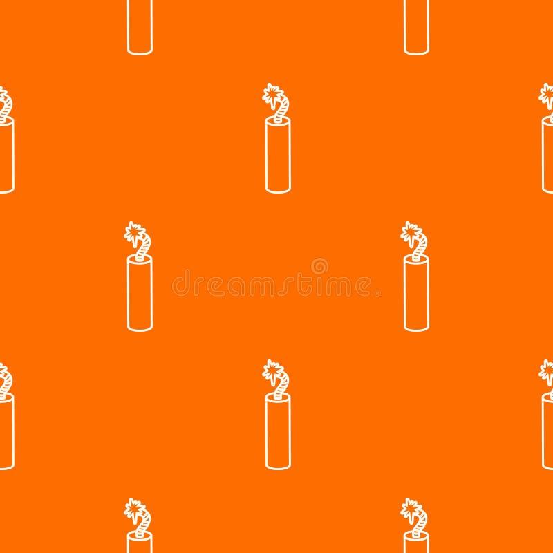 Апельсин вектора картины динамита шахты бесплатная иллюстрация