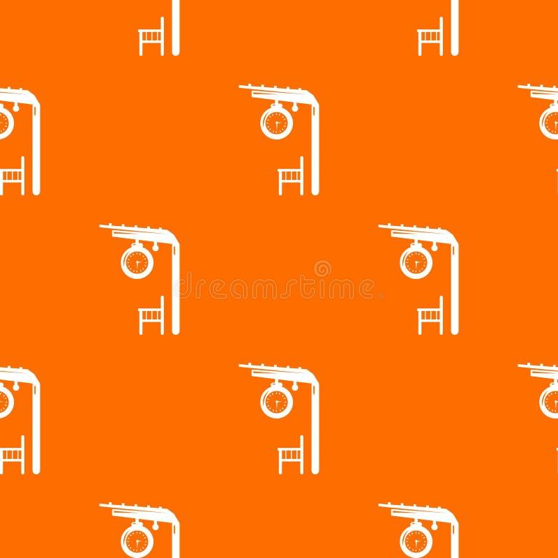 Апельсин вектора картины платформы железнодорожный бесплатная иллюстрация