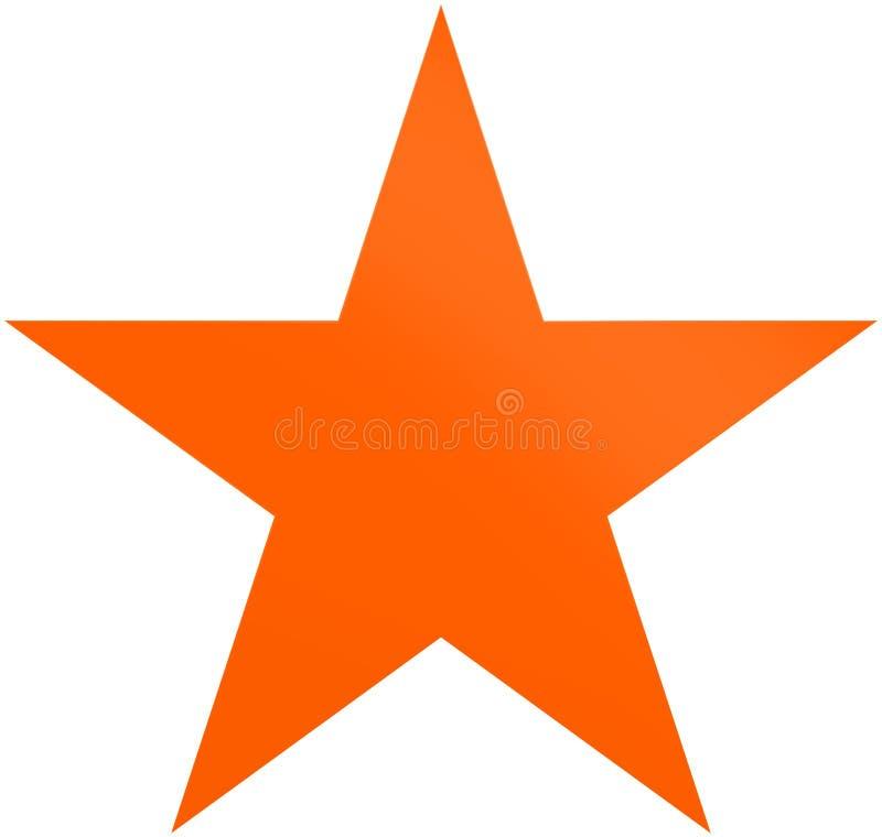 Апельсин звезды рождества - простая звезда 5 пунктов - изолированный на белизне бесплатная иллюстрация