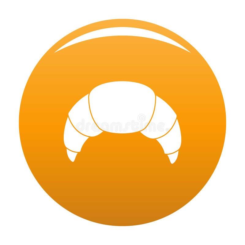 Апельсин значка круассана иллюстрация вектора