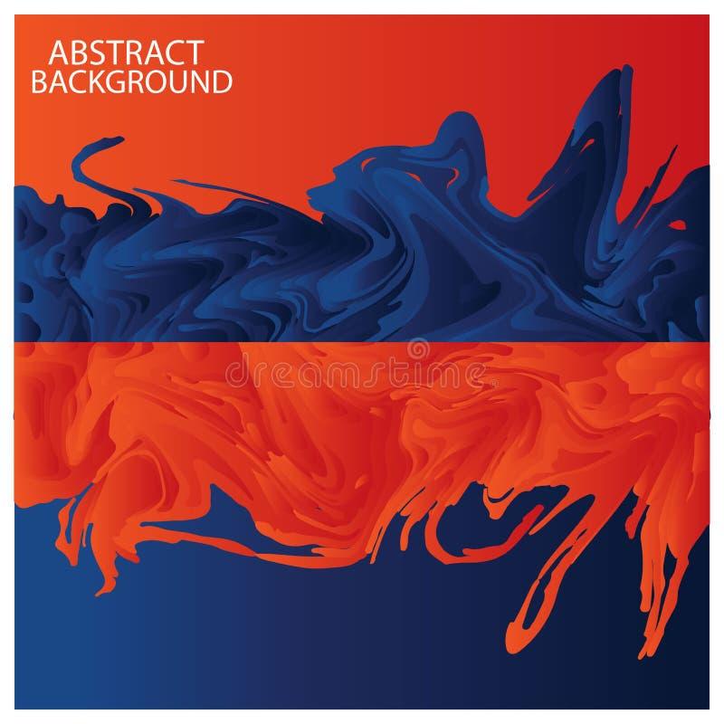 Апельсин и голубая абстрактная предпосылка, иллюстрация вектора бесплатная иллюстрация