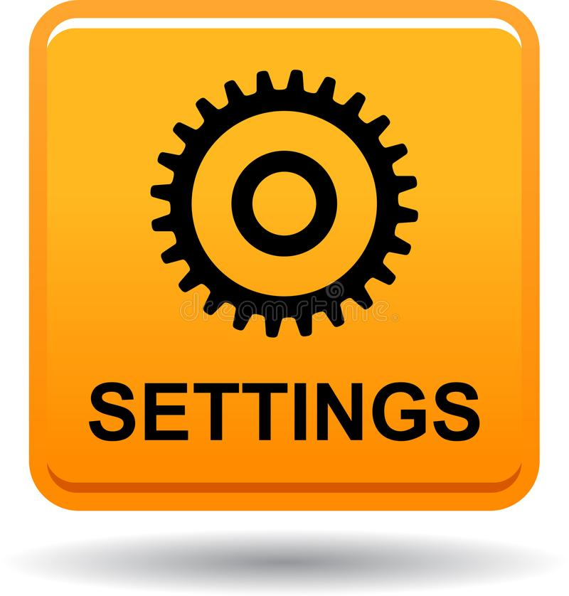 Апельсин кнопки сети установок иллюстрация штока