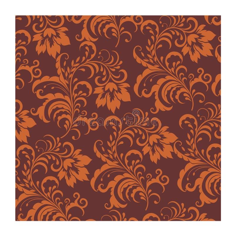 Апельсин коричневого цвета вектора батика предпосылки безшовный для печати ткани моды стоковое фото rf